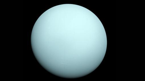 Apariencia real de Urano, según la Voyager 2