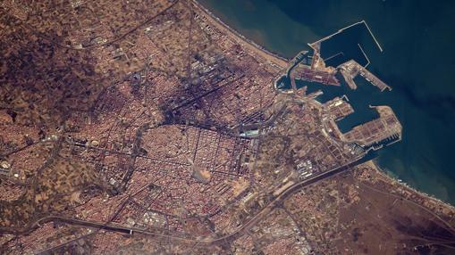 Valencia, captada por el astronauta Thomas Pesquet
