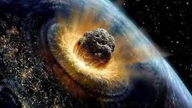 Recreación del choque de un asteroide contra la Tierra