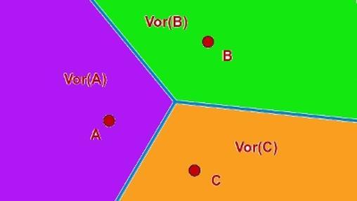 El diagrama de Voronoi, la forma matemática de dividir el mundo