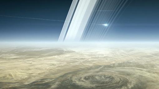 Recreación de la destrucción de la sonda Cassini en la atmósfera de Saturno