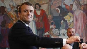 Macron vota en Le-Touquet
