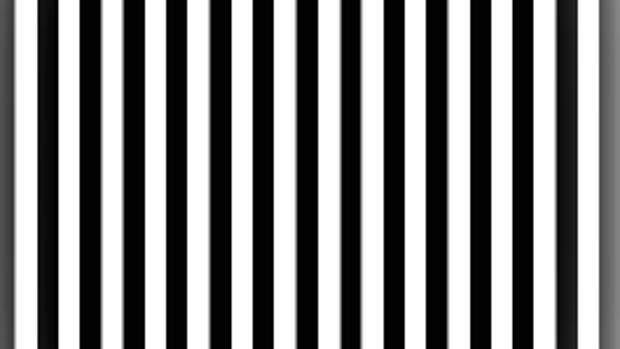Un patrón de rejilla de alto contraste, imágenes que pueden provocan oscilaciones gamma