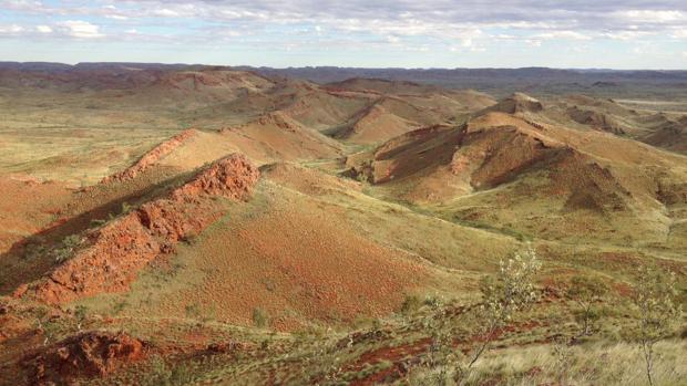 Crestas en el cratón de Pilbara, al oeste de Australia, donde se han encontrado los restos
