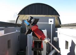 El telescopio robótico KELT-Sur en Sudáfrica, que hizo el descubrimiento de KELT-11b.
