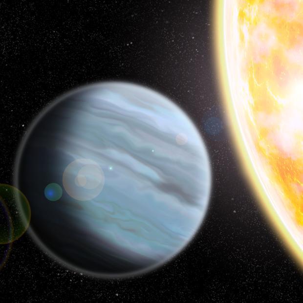 Descubren un planeta «hinchado» como una bola de espuma