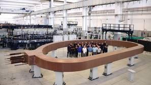 Uno de los imanes que se instalarán en el ITER, en el sur de Francia
