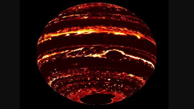 Imagen de Júpiter obtenida con los datos de Juno