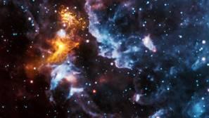 Una estrella de neutrones hace brillar el gas de los alrededores. Estas estrellas parecen ser un origen plausible las «Fast Radio Bursts»