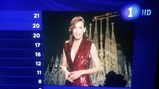 Sagrada Familia:  Barcelona sustituye a Madrid como imagen de fondo en la votación de España en Eurovisión