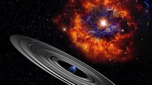 Recreación artística del planeta gaseoso gigante que orbita la estrella PDS 110