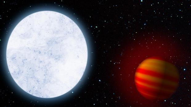 Descubren un planeta infernal más caliente que las estrellas