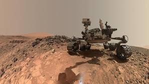 El rover Curiosity en Marte