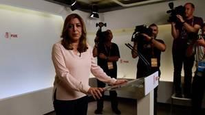 Susana Díaz evita felicitar públicamente a Pedro Sánchez como ganador de las primarias en el PSOE