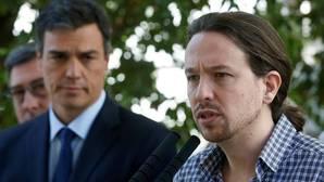 Podemos se vuelca para felicitar a Pedro Sánchez por su triunfo en las primarias del PSOE