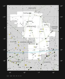 IRAS 16293-2422 en la constelación de Ofiuco