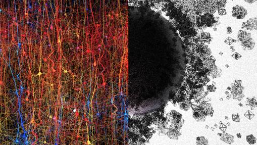 La imagen ilustra un universo de estructuras y espacios multidimensionales