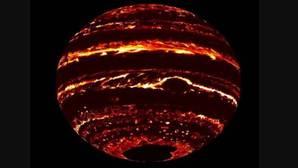 Imagen de Júpiter obtenida con datos de la sonda Juno