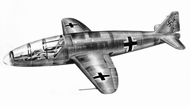 Prototipo nunca construido del He 176, el primer avión impulsado solo por un cohete