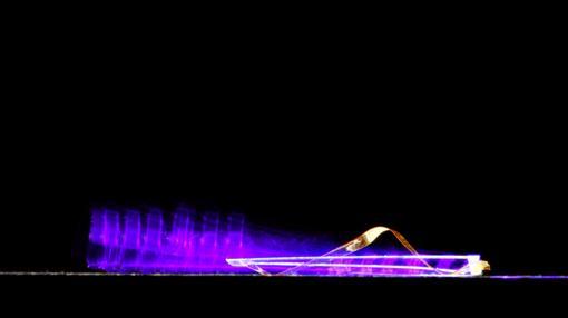 Foto que muestra la secuencia del movimiento del dispositivo