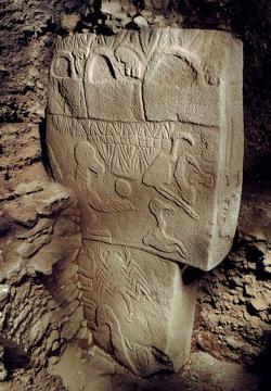 Un pilar tallado en Göbekli Tepe