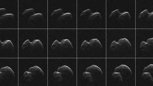 Imágenes de radar del asteroide 2014 JO25