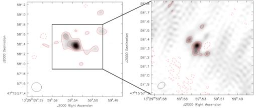 Mapa de ondas de radio de las cercanías del agujero negro