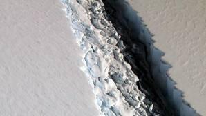 Imagen de la gigantesca grieta en la plataforma Larsen C