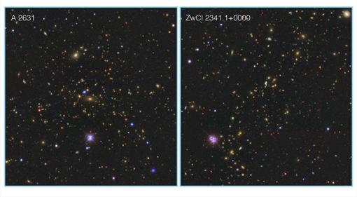 Dos grupos masivos de galaxias en Saraswati
