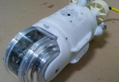 Robot submarino usado para explorar los reactores