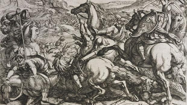 Los israelitas derrotados por los cananeos por haber desobedecido a Moisés, del italiano Antonio Tempesta (1555 - 1630)