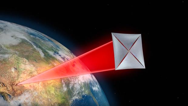 El proyecto enviará naves diminutas equipadas con velas e impulsadas por un rayo láser desde la Tierra