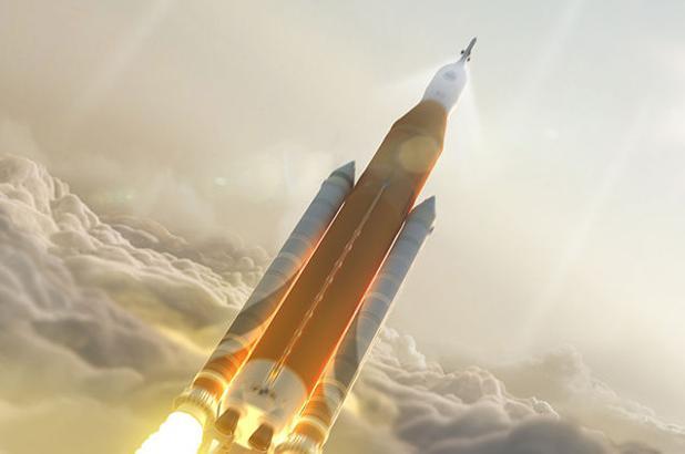 El SLS, en la imagen, será el cohete más potente de la historia