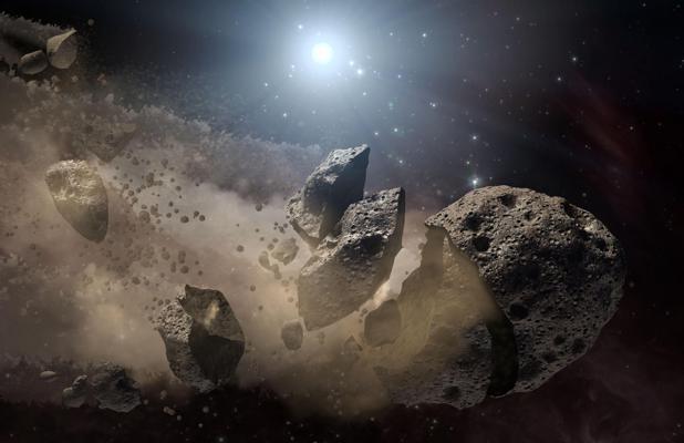 Los asteroides nacieron a partir de la fractura de planetesimales