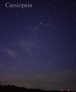 La constelación de Casiopea