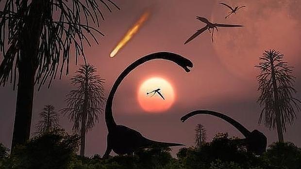 El meteorito impactó contra lo que hoy es la Península del Yucatán, en México