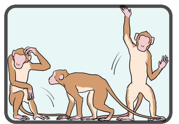 Ilustración que muestra movimientos parkinsonianos