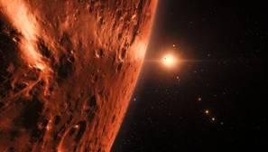 Hubble detecta indicios de agua en el sistema solar TRAPPIST-1