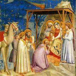«La adoración de los Reyes Magos», de Giotto de Bondone