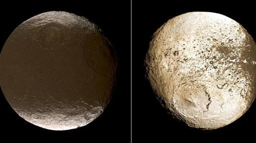 Las dos caras de Jápeto. Cassini ha explicado cómo han aparecido