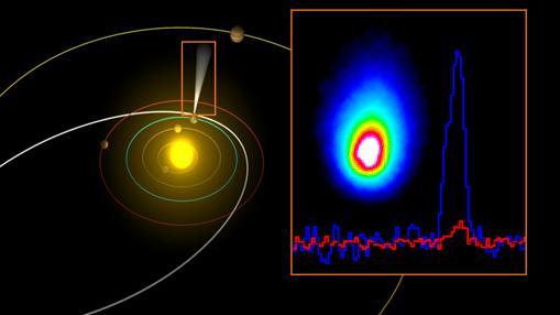 Detección de agua en un cometa