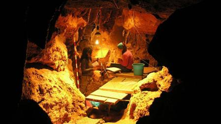 Interior de la cueva de El Sidrón