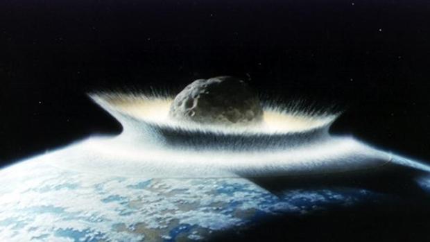 Aseguran que un planeta no detectado chocará contra la Tierra. En la imagen, el impacto de un gran asteroide