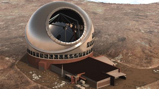 Vista aérea del futuro telescopio