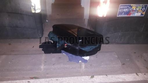 Imagen de la maleta en la que se han hallado los restos humanos