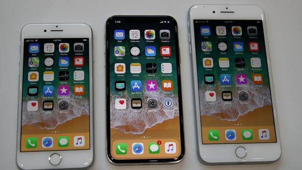 El iPhone 8, el iPhone X y el iPhone 8 Plus