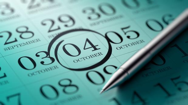 El 4 de octubre, marcado en el calendario