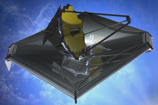 Aspecto del telescopio espacial James Webb, el más potente de la historia
