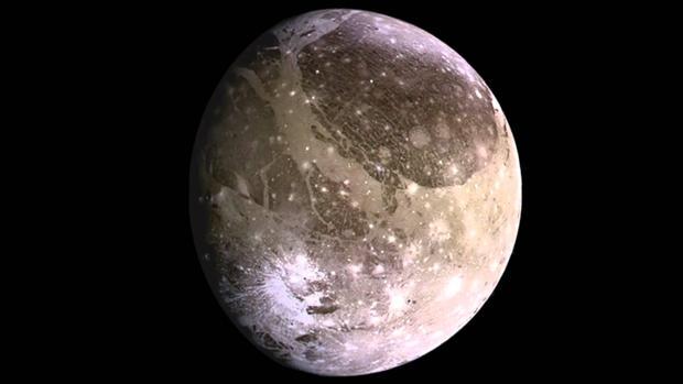 Ganímedes, la mayor de las lunas de Júpiter