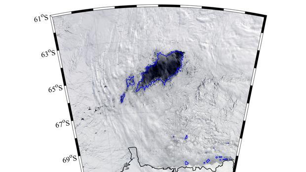 El agujero descubierto en la Antártida